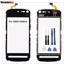 Vecmnoday Original Touchscreen For Nokia 5800 N5800 Sensor Touch Screen Digitizer Front Glass Free Shipping +Tools(China)