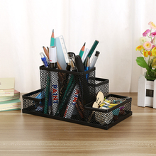 Mesh Cube Metal Stand Combination Holder Desk Desktop Accessories Stationery Organizer Pen Pencil Office Supplies Study Storage(China)