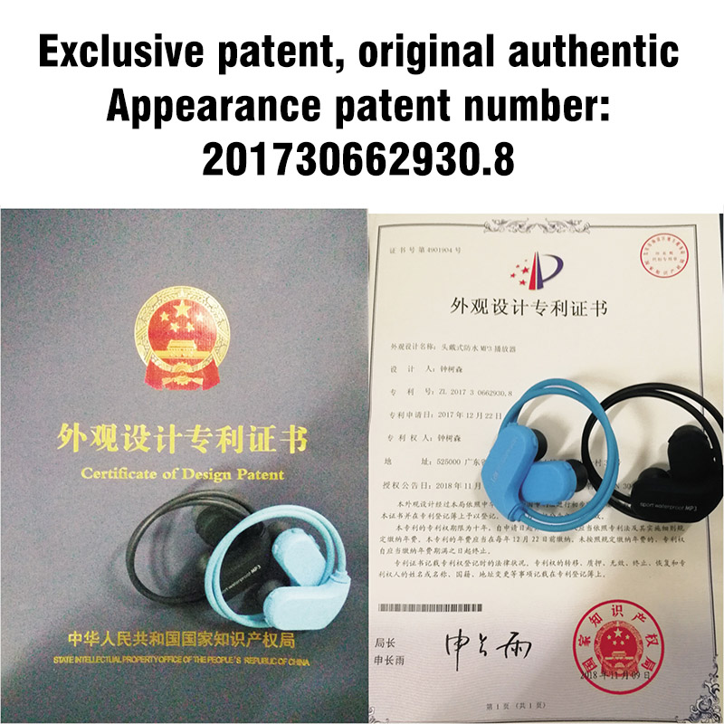 0-1.MP3 IPX8 Waterproof