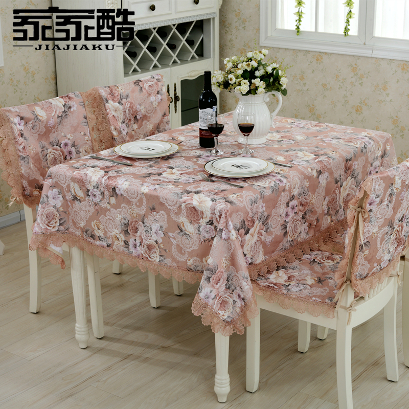 JIAJIAKU Brand Polyester Cotton Tablecloths Customized SET Furniture Cover  Dining Table Chair Seat Pads. Popular Floral Home Furniture Set Buy Cheap Floral Home Furniture