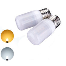 Energy Saving LED Lamp Bulb E26 3.5W 27leds 5730 SMD Pure Warm White LED Corn Light Bulb 12V Home Decoration Chandelier Lighting(China)