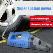 2 Color Multifunctional Car Vacuum Cleaner Handheld Wet Dry Tire Pressure Measurement Air Pump LED Light Vacuum Cleaner CZK-6202