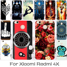 TAOYUNXI Silicon OR Plastic Cell Phone Case For Xiaomi Redmi 4X  Redmi4X Rose Painted Bag For Xiaomi Redmi 4X Case