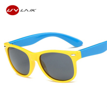 UVLAIK Children Polarized Sunglasses Kids Boys Girls Ultra-soft Silicone Glasses Fashion Child Baby Safety Sun Glasses UV400(China)