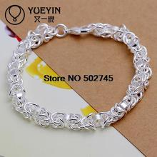 Wholesale!2015 MEN top quality 925 sterling silver hand chain Leading shrimp buckle bracelets fashion jewelry(Hong Kong)