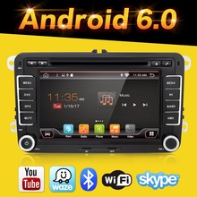 2 Din Quad 4 Core android 6.0 car dvd player Aux gps Stereo For VW Skoda POLO GOLF 5 6 PASSAT CC JETTA TIGUAN TOURAN Fabia Caddy
