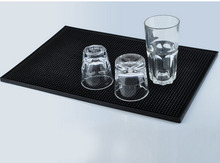 PVC rubber Bar Mats/beer cup mat non-slip pad for home decoration bar accessories/ Personalized Coasters black pad home decor