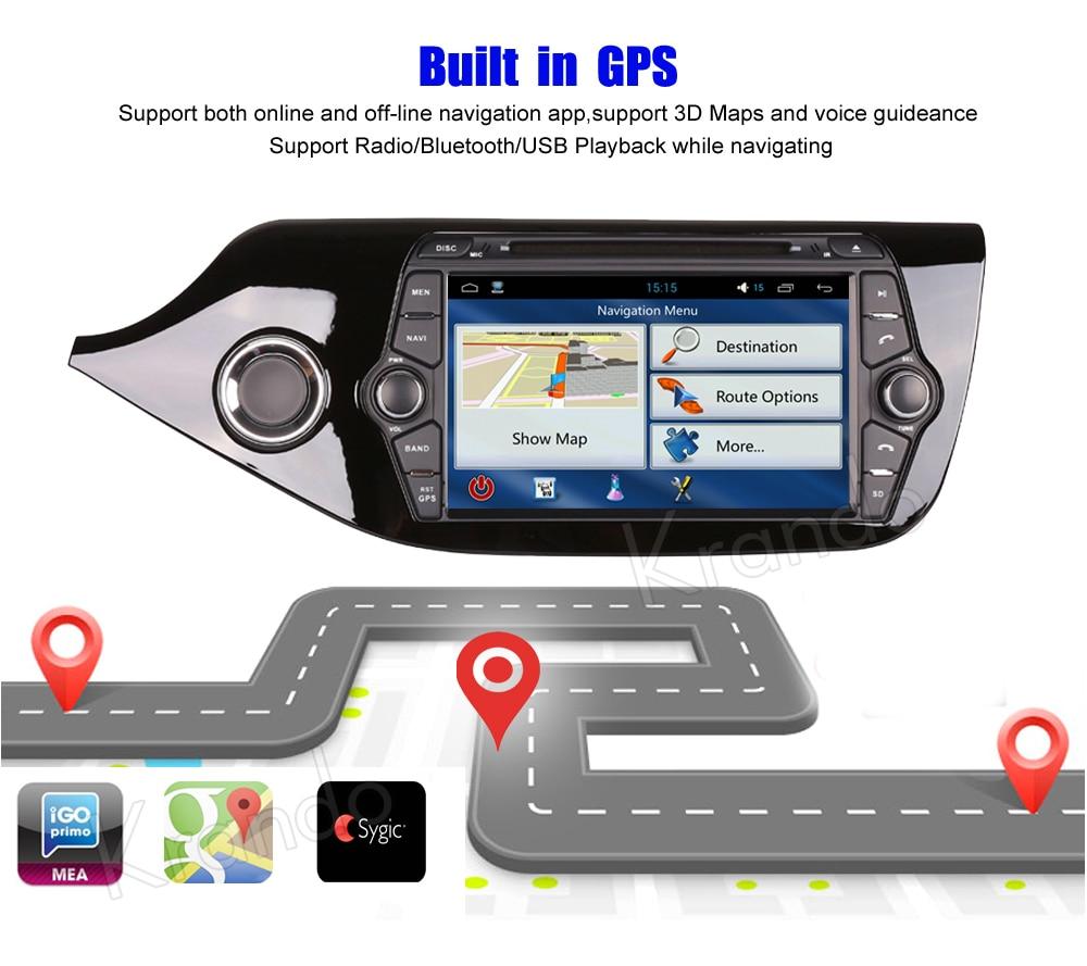 Krando kia ceed Android car radio gps navigation multimedia system (5)