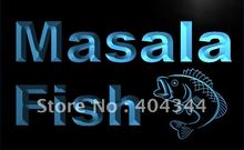 LK702- Masala Fish Restaurant Seafood LED Neon Light Sign home decor crafts(China)