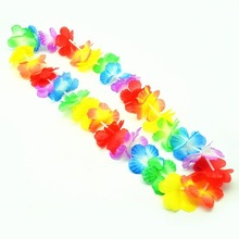 300pcs/lot Fast Shipping Colorful Hawaiian leis Garland Necklace Fancy Dress Party Hawaii Beach Fun Party Supplies(China)