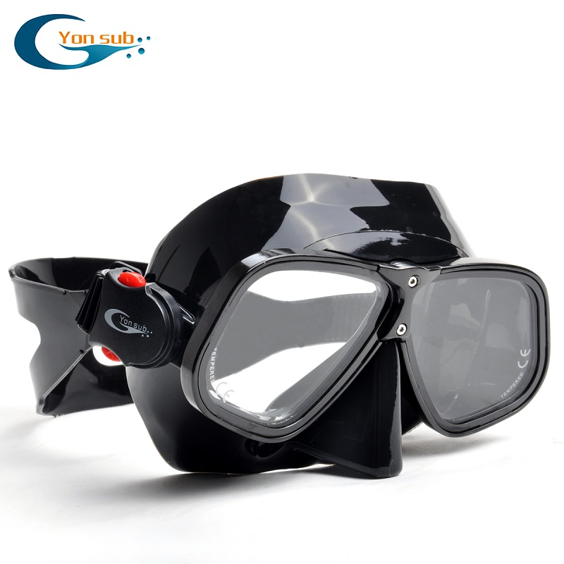 Alloy Silicone goggles free diving mask snorkeling Sambo professional scuba diving equipment dive(China (Mainland))