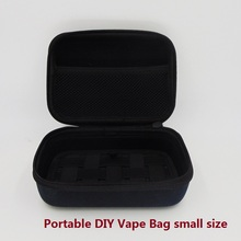 NEW DIY E cigarette Vapor Pocket E Cig Case Double Deck Vapor bag vape mod carrying case for Box Mod kit electronic cigarettes