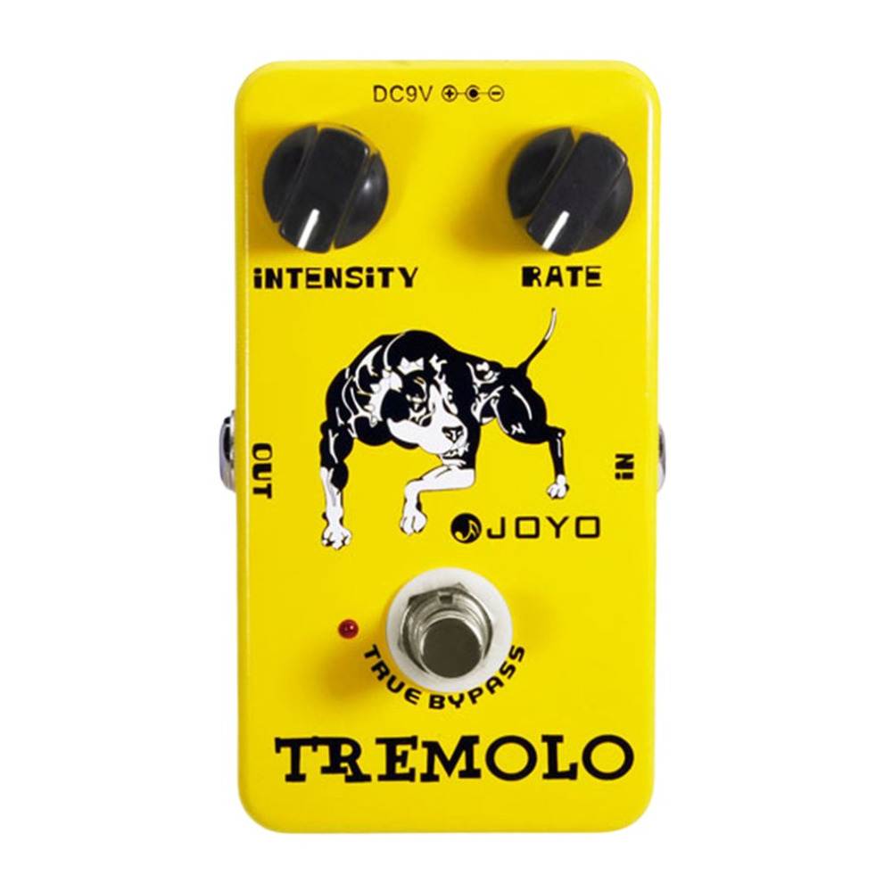 JOYO JF-09 Tremolo Guitar Effects Pedal Analog Effects Stompbox Intensity Rate Knobs Adjustable True Bypass Distinctive Sounds<br>