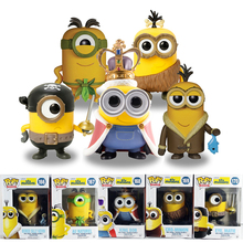 PVC Despicable Me Funko POP King BOB/Cro-Minion/ Eye Matie Minions Figure Bored Silly Kevin/AU Naturel Model Anime Toy Gift