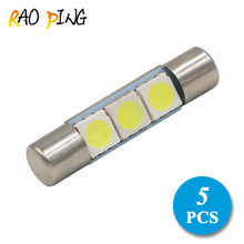 Raoping 5PCS 3SMD 29mm Fuse Car Auto LED Bulb Vanity Mirror Light Sun Visor Lamp Replacement Bulbs White(China)