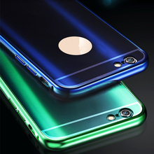 i6 Luxury Metal Case Mirror Style Aluminum Frame Bling Acrylic Plastic Back Cover For iPhone 6 6S Plus Phone Accessory