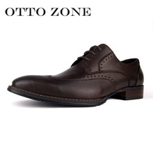 Men Oxford Vintage Dress Shoes Brand Genuine Leather Men Carved Casual Shoes Male Business Wedding Shoes Plus Size(China)