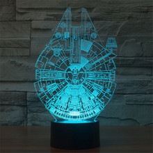 Creative 7 Colors 3D Robotech Acrylic Visual Light LED Lamp Bedroom Table Decoration Lamps Night Light Gifts 3D-TD02
