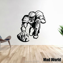 Mad World-Boy Football Player Sport Silhouette Wall Art Stickers Wall Decal Home DIY Decoration Removable Decor Wall Stickers