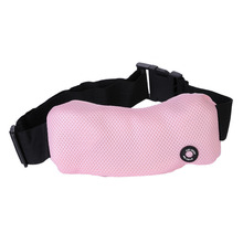 High-quality Auto Mini Vehicle Massage Belt Portable Anti-bacterial Sandwich Mesh Support Pillow Massager Batteries(China)