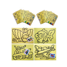 CCINEE 10 PCs/LOT 11x9 CM Children Kids Drawing Toys Sand Painting Pictures Kid DIY Crafts Education Toys