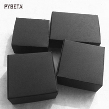 100pcs- ( 40-70mm) Blank black paper aircraft box for jewelry candies DIY handmade soap party gifts packaging