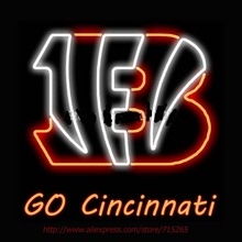 Tiger Go Cincinnati Neon Bulbs Neon Sign Real Glass Tube Handcrafted Shop Advertising Pub Neon Lamp Bulb Indoor Motel Sign 24x20(China)