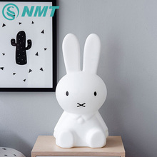 50cm Rabbit Children LED Night Light Rechargeable Cartoon Night Lamp for Children Baby Bedroom Birthday Christmas Gift(China)