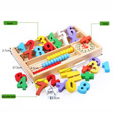 Kids Child Wooden Numbers Mathematics Early Learning Counting Educational Toy 17Oct26(China)