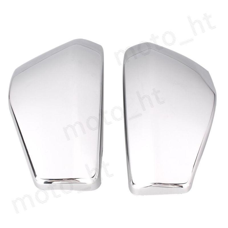 2PCS Side Battery Cover Set For Honda VTX 1300 VTX1300 2003 2004 2005 2006 2007 2008 2009 Left + Right Motorcycle Parts Chrome<br>