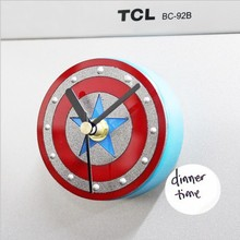 Captain America Circular 3D Self Adhesive Wall Clock Digital Wall Clock Blank Magnet Refrigerator Clock For Kitchen Watch