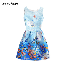 Amuybeen 2017 Wedding Sundress Summer Dress For Girls Kids Clothes Teenagers Baby Girl Flower Party Dresses For 9 10 12 Years 02