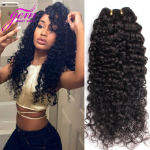 Malaysian Virgin Hair 3 Bundles Malaysian Curly Hair 8-30in GEM Beauty Hair Malaysian Kinky Curly Virgin Hair Deep Wave Curly 1b