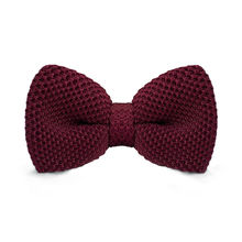 LF-309 Fashion New Arrival Knitted Crochet Men`s Bowties Adjustable Darkred Solid Neckwear For Party Bussiness Free Shopping