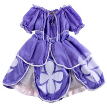 Bling Baby Girls Kids Purple Sofia Costume Princess Party Fancy Dress 2-7 Years Purple Halloween Costume Girls Dresses