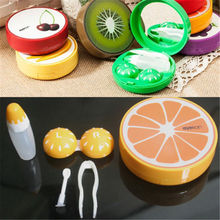Travel Pocket Fruit Style Soak Storage Contact Lens Case Box Holder Container