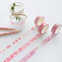 3Rolls//Set 17 Designs Japanese Washi Tape Scrapbooking Flowers Decorative Tap Sticker Paper Adhesive Tape Cute Making Tape Gift