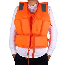 Orange Foam Adult Life Jacket With Whistle Universal Swimming Drifting Boating Ski Surfing Safety Vest for Boating Plus Size