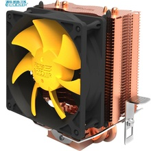 PCcooler S83 cpu cooler Copper plating fins 2 heatpipes 80mm/8cm silent fan CPU cooling radiator fan for AMD Intel 775 1155 1156(China)