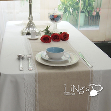 Whole Sale 1Pc 36cmx275cm Lace Table Runner Burlap Table Cloth Wedding Party Decoration