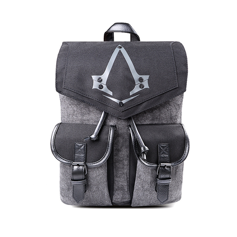 Assassins creed Cosplay Backpack Men School Bags Official Assassins Creed Syndicate Logo school backpacks Bag Rucksack <br>