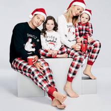2017 family christmas pajamas family matching outfit clothing sets cute bear t shirt plaid pants family clothes set