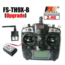 Upgraded FlySky FS-TH9X 2.4G 9CH Transmitter With FS-R9B RM002 Receiver Set Mode 2 For Quadcopter Glider Helicopter Airplane Car