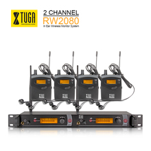 XTUGA RW2080 Wireless Monitor System of stage UHF In Ear Headphones & Ear 8 Receivers sound Professional Microphones(China)
