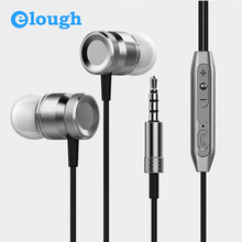 Elough Universal In Ear Earphone For Phone 3D Bass Headphone With HD Microphone and Headset For Samsung Computer Earpiece Earbud(China)