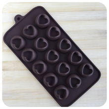 15-in-1 Heart Shaped Chocolate Molds DIY Mini Chocolate Heart Cup Cake Jelly Molding Oven Using Easy Demolding Baking Tools