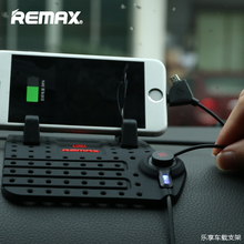 Remax Universal Mobile Car Phone Holder For iPhone GPS iPad iPod Samsung HuaWei XiaoMi Redmi 3S Note 3 Car Holder 2 Head Cable