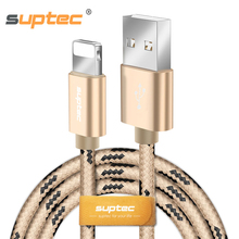SUPTEC USB Cable for iPhone X 8 7 6 6s Plus 5 5s SE iPad mini air 2 3 4 Nylon Braided Wire Fast Data Sync Charging Charger Cable