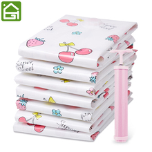 1pc Premium Plastic Clothing Vacuum Storage Bags Space Saver Clothes Duvets Seal Sacks Organizer for Home and Travel Vacation(China)