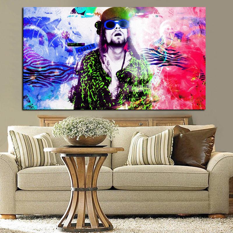 HD Drucken Musik Kurt Cobain psychedelic Dreamy Abstrakte Öl Panting ...
